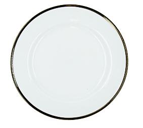 Prato de Sobremesa Borda Prata