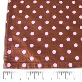 Toalha Quadrada Poás Marrom e Rosa 1,54X1,54