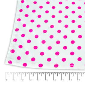 Toalha Quadrada Poás Branca e Pink 1,54X1,54