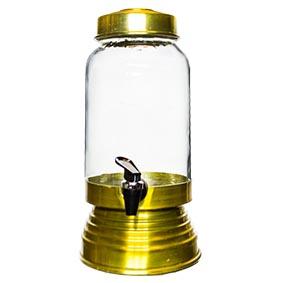 Suqueira de Vidro Dourada 3,20L