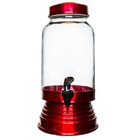 Suqueira de Vidro Vermelha 3,20L