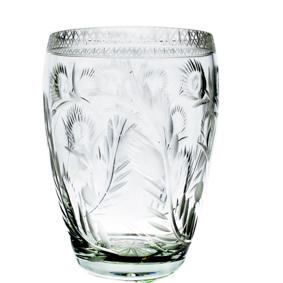 Vaso de Cristal Redondo Floral