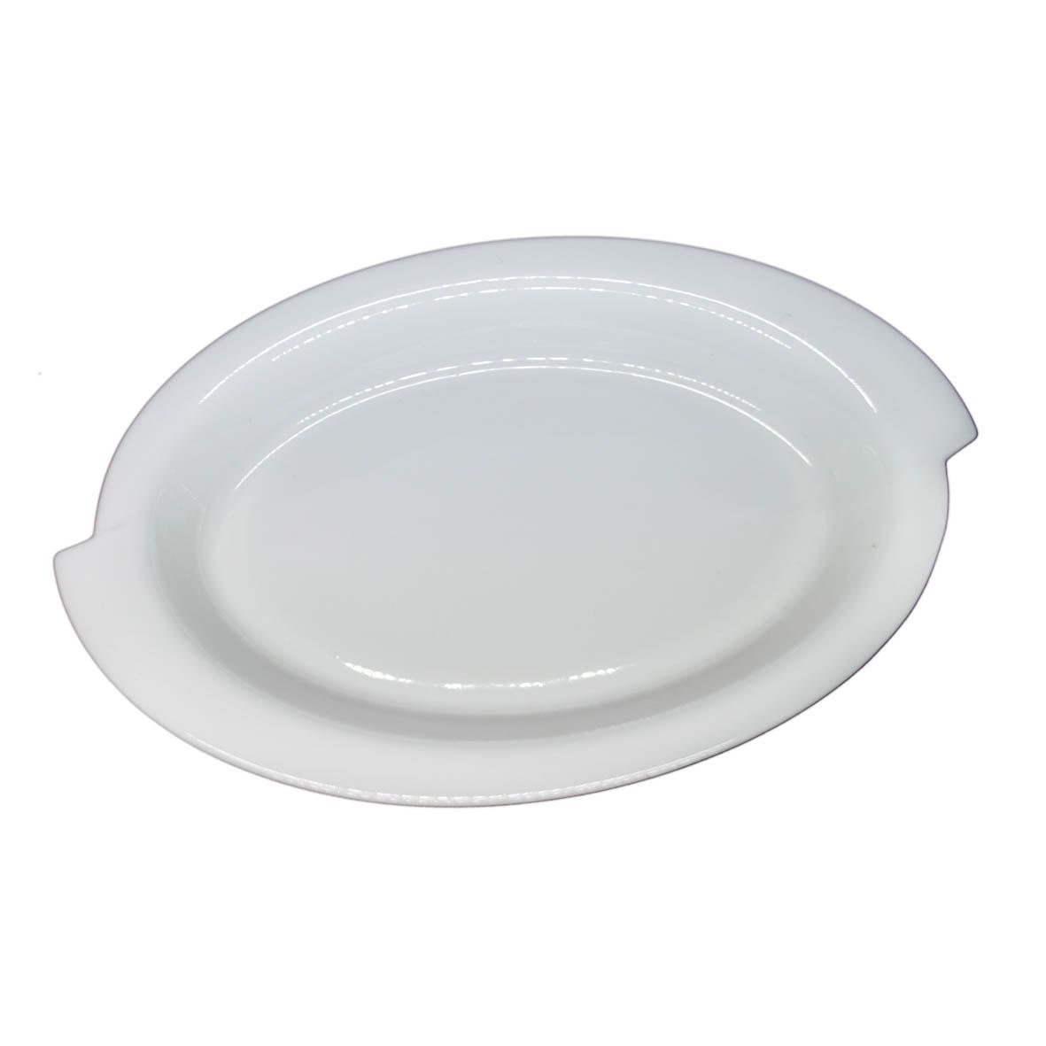 Travessa de Porcelana Oval Borda S 45x29x5