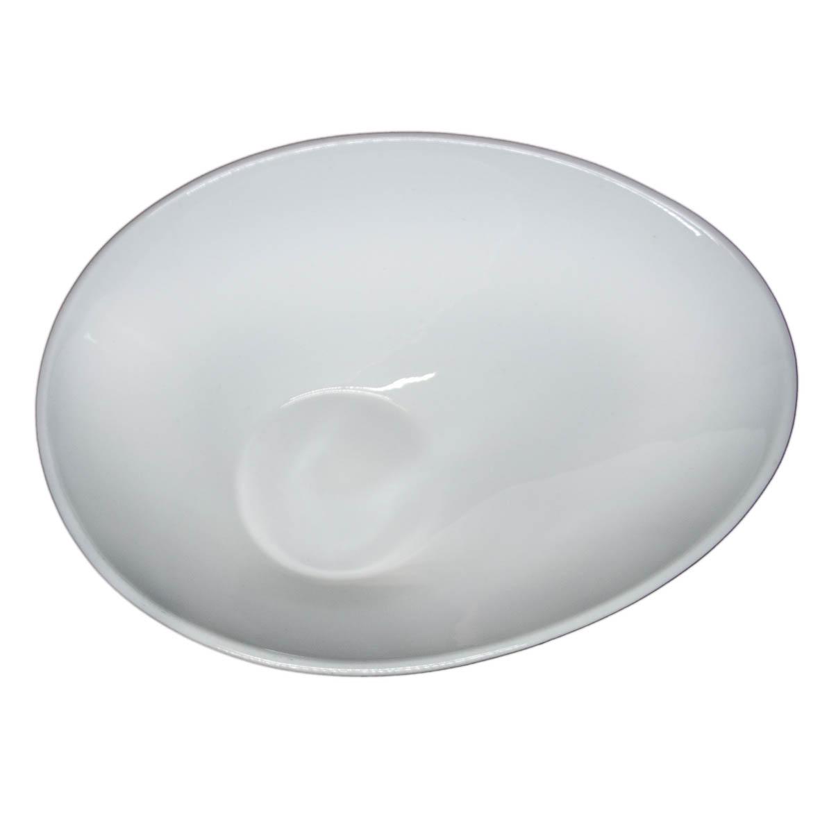 Travessa de Porcelana Oval Funda Gota 33x25