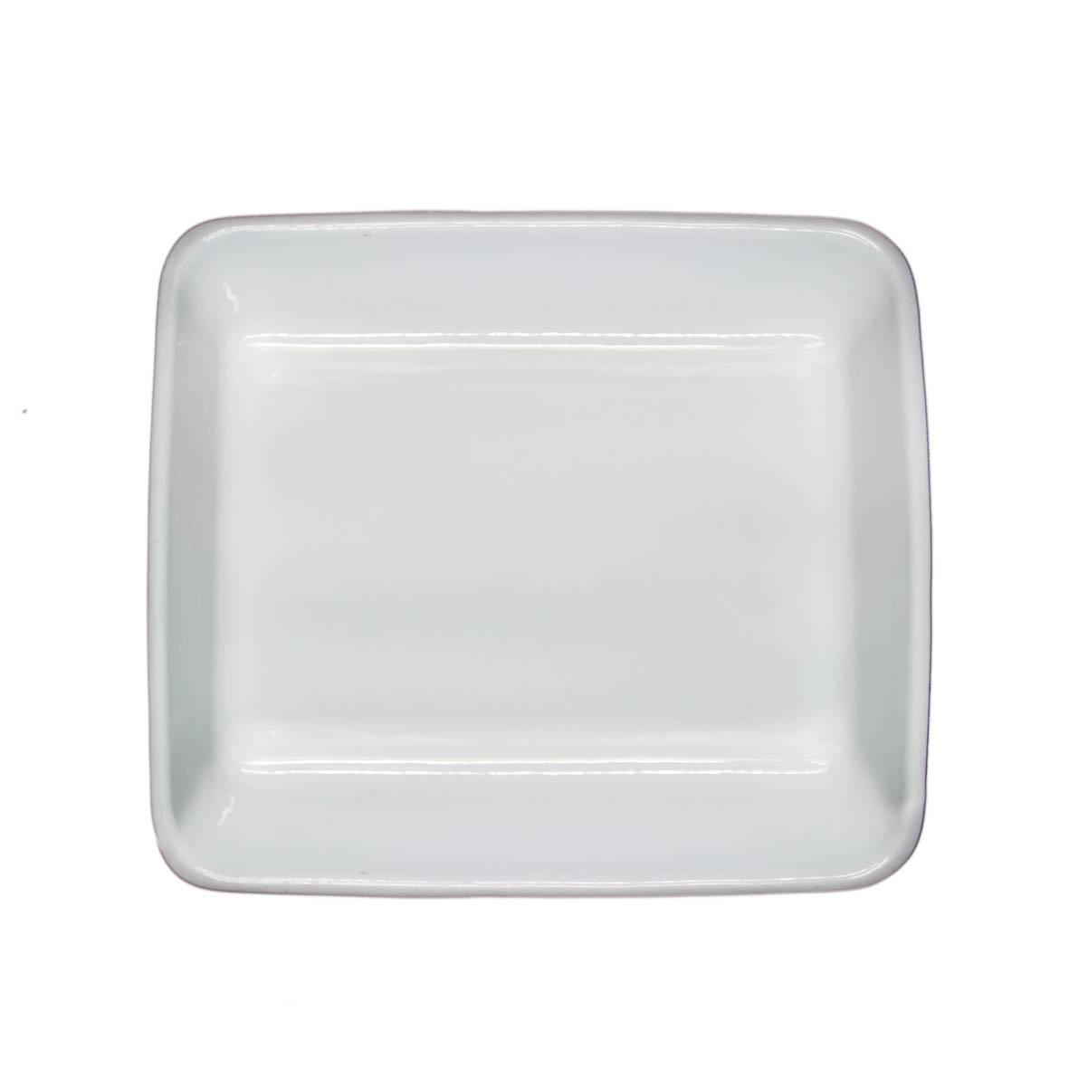 Travessa de Porcelana Quadrada Refrataria 34x29x6