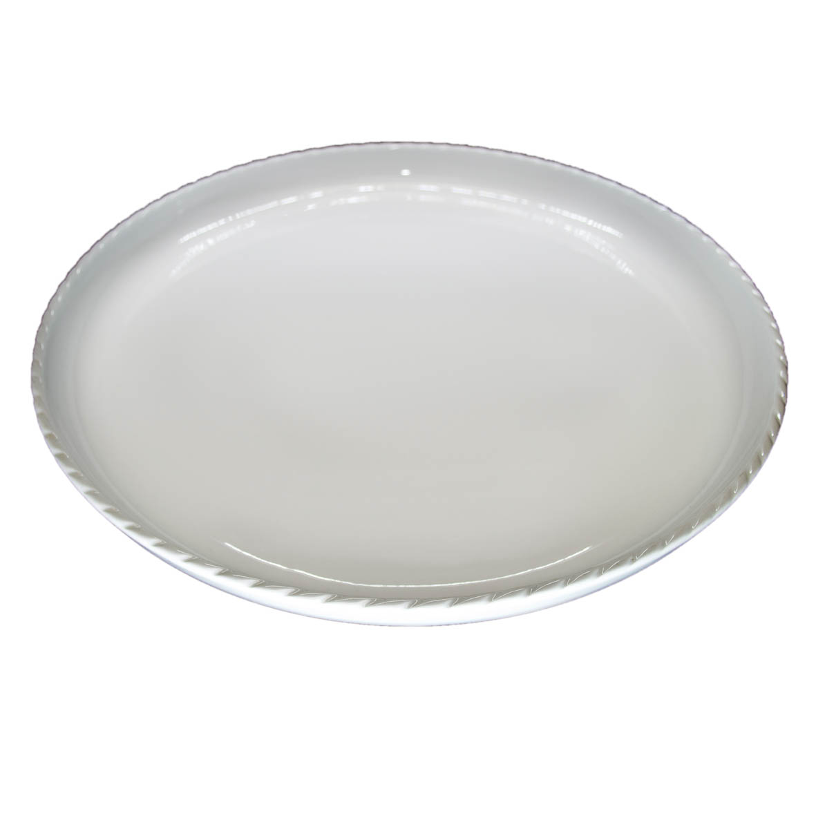 Travessa de Porcelana Redonda Rasa 43,5x4