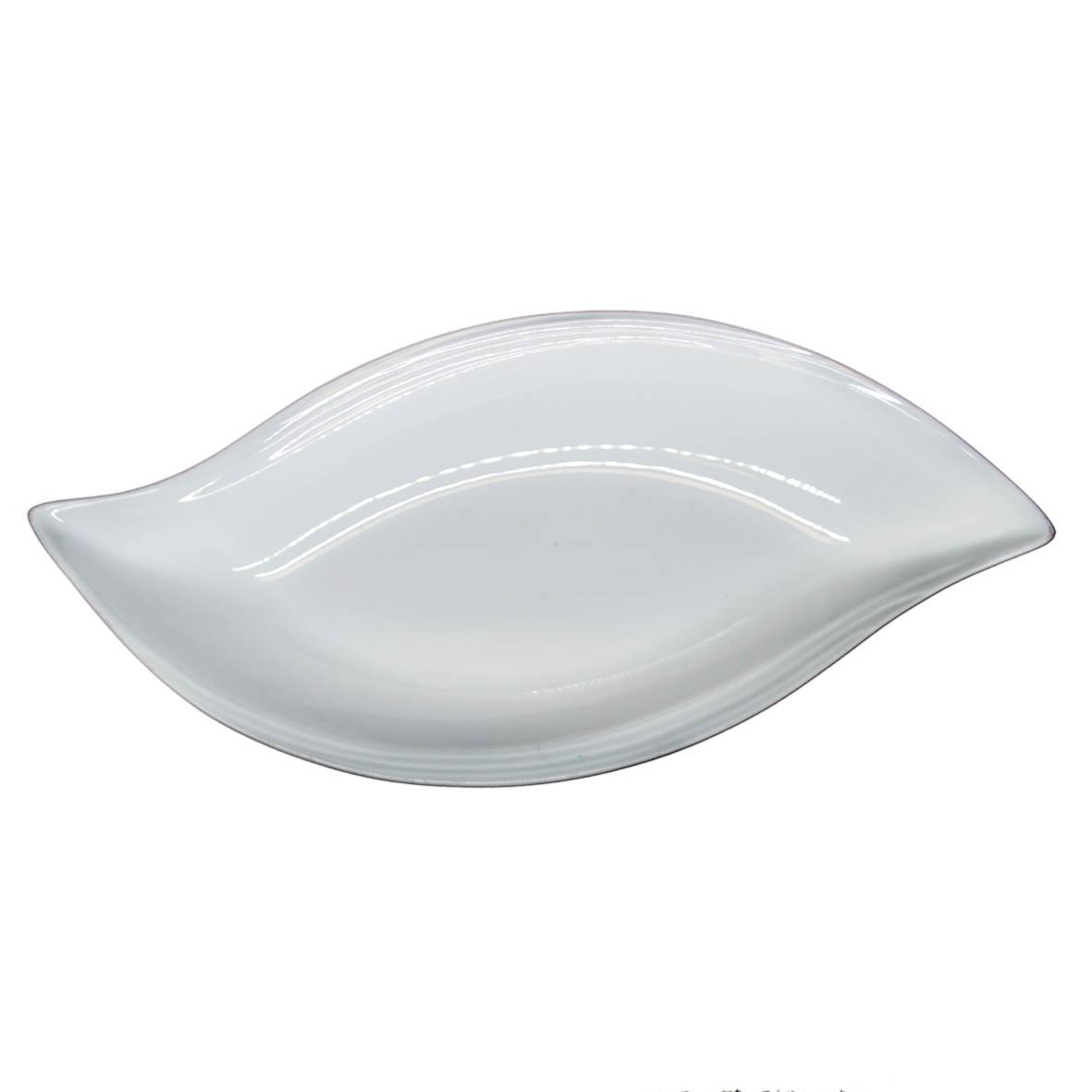 Travessa de Porcelana Oval Borda S Frisada 43x21x6