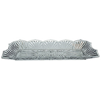 Petisqueira Retangular Cristal 45x15,5x5cm