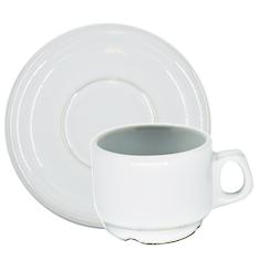Xícara de Café Lisa com Pires 60ml