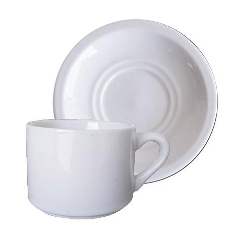 Xicara de Chá Lisa Reta com Pires 160ml