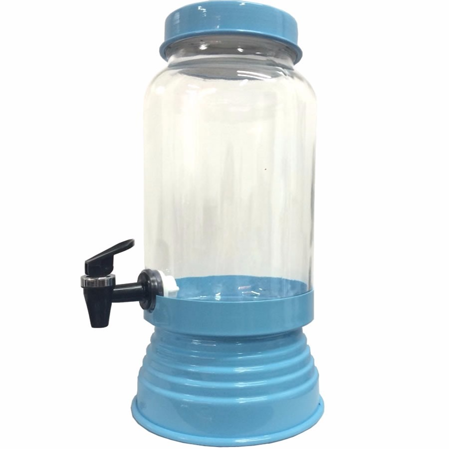 Suqueira de Vidro Azul Bebê 3,20L