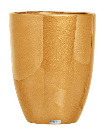 Cachepot Cerâmica Alto Dourado