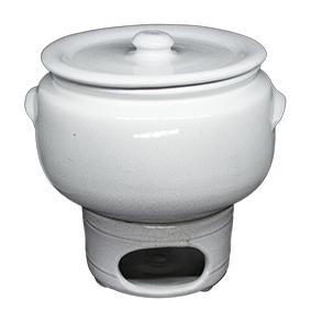 Rechaud Ceramica Branco M